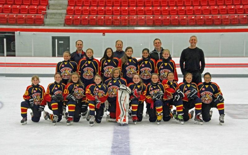 Supporting Aurora Girl Hockey teams